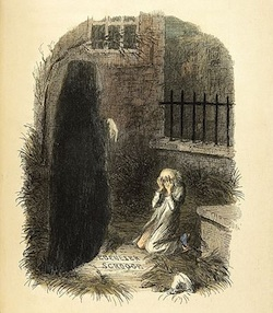 Illustration of Dickens' Ghost of Christmas Future