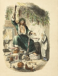 Illustration of Dickens' Ghost of Christmas Present