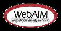 WebAIM logo with a white background behind the text, making it readable, and a black background around the outer edges
