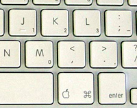 image of MacBook keyboard showing numeric keypad keys