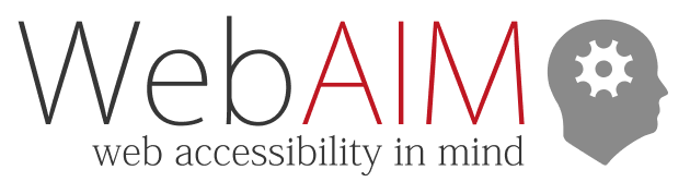 WebAIM:   Web Accessibility In Mind icon