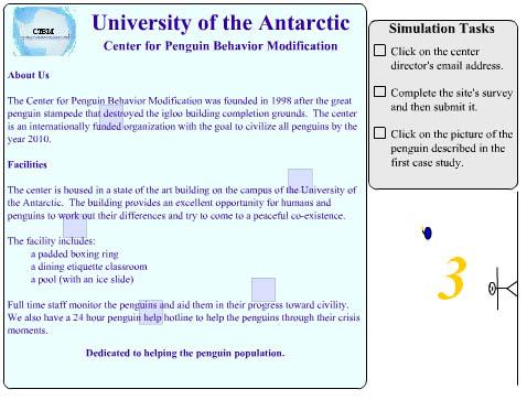Beispiel-Ansicht von WebAIMs Aufmerksamkeitsdefizit-Simulation