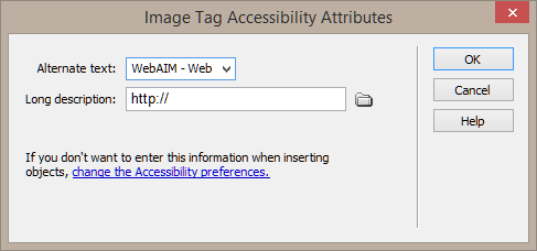 WebAIM: Creating Accessible Web Content in Dreamweaver