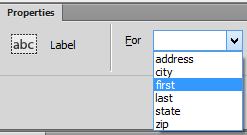 "screenshot of the expanded menu <img src=""images/"" width="""" height="""" alt=""Erstellung barrierefreier Inhalte mit Dreamweaver"">"