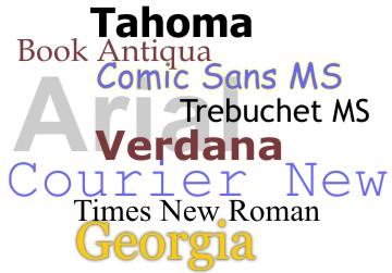 Webaim Fonts
