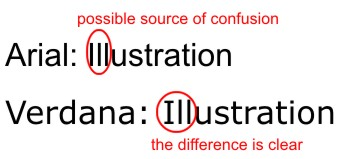 Verdana typeface
