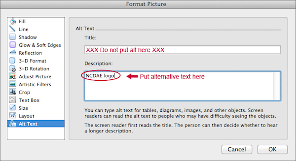 WebAIM: Word 2011 for Mac - Creating Accessible Documents